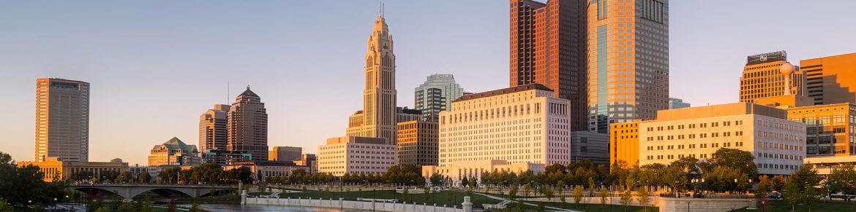 A city landscape scene
